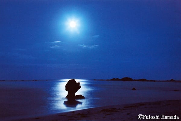 7・8月 ~月明かりに浮かぶ奇岩(土盛海岸/奄美市笠利町)~