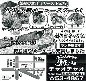 繁盛店シリーズNo.79 浪速ひとくち餃子 餃々 チャオチャオ